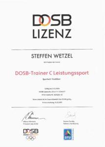 DOSB C-Trainer Leistungssport Trainerschein Zertifikat